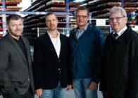 von link: Andreas Heilmann, Christian Meinhardt, Sven Kühlein, Theo Wendler. Foto: Köstner  AG