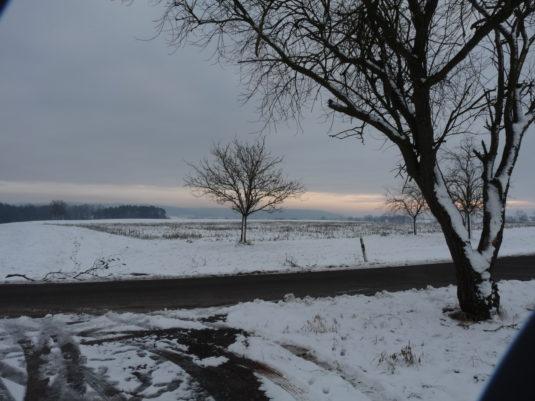 Winterlandschaft bei Ansbach